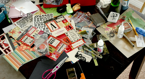 Typical Scrapbooking Table