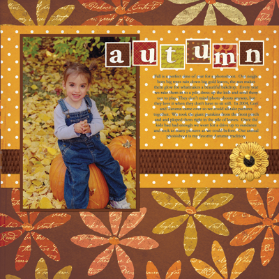 Layout autumn tatumn
