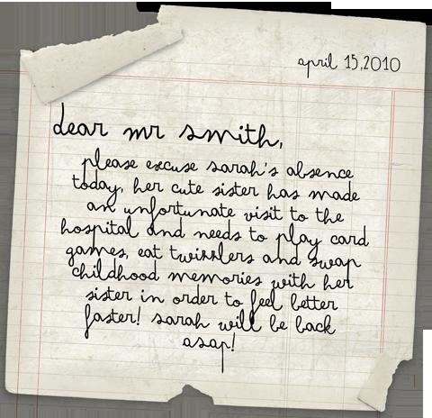 Sick note