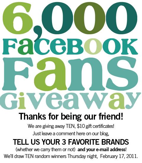 6000 fan giveaway