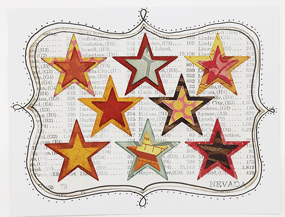 0010 Several Stars Card Label cropped