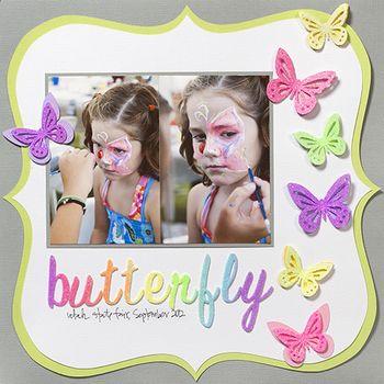DIY Glitter Butterflies